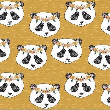 Bandeau Panda Moutarde