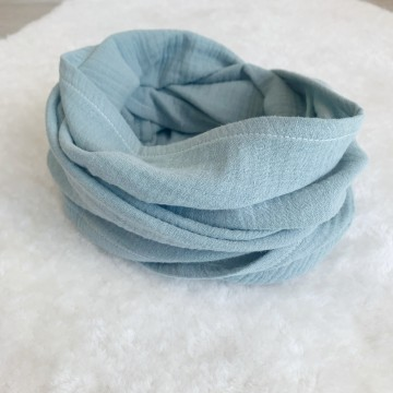 Snood en double gaze Mint