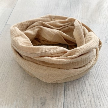Snood en double gaze Taupe