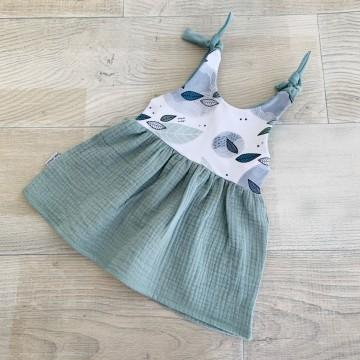 Robe bi-matière / Sweet Cactus - Old Green