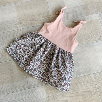 Robe bi-matière  - Dusty pink / Bloom
