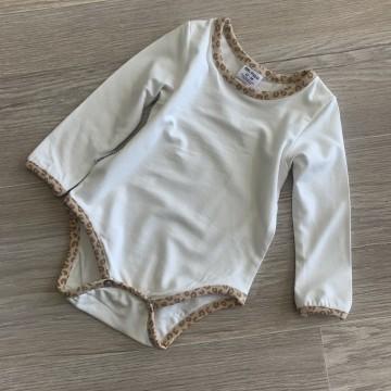Body // 62-68 // manches longues  // Crème - Léopard