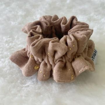 Chouchou Terracotta à paillettes dorées