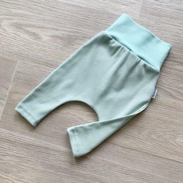 Sarouel Slim Jersey Côtelé Old Green